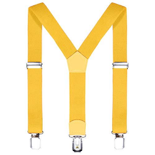 i più votati più recenti negozio online Più affidabile DonDon Bretelle bambino gialle 2 cm fini e regolabili, altezza 80-110 cm,  1-5 anni