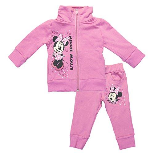 Mädchen SPORT-ANZUG Minnie Mouse GEFÜTTERT zweiteilig, Sweat-Jacke mit langer Hose, GRÖSSE 80, 86, 92, 98, 104, 110, 116, 122, Jogging-Anzug zum Wohlfühlen, Freizeit-Anzug Color Grau, Size 86 (Baby-jersey-windel)