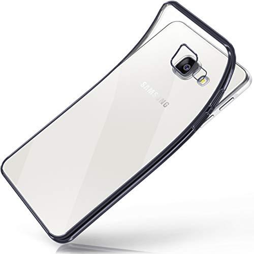 moex Samsung Galaxy A5 (2016) | Hülle Silikon Transparent Anthrazit Chrom Back-Cover Silikonhülle Dünn Schutzhülle Handyhülle für Samsung Galaxy A5 2016 Case Ultra-Slim Tasche TPU