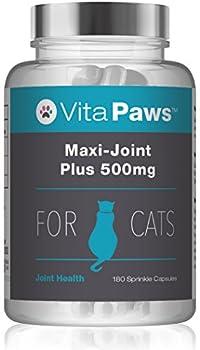 Maxi-Joint Plus 500mg pour Chat, 180 Gélules - Soulage les Articulations Douloureuses, Fabriqué au Royaume-Uni