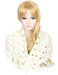 Accessoire pour Femmes Calonice Amorino écharpe tour de cou d'hiver en laine tricotée en crochet châle pour femmes Taille unique 52x0.5x47 cm (LxHxl) 24500
