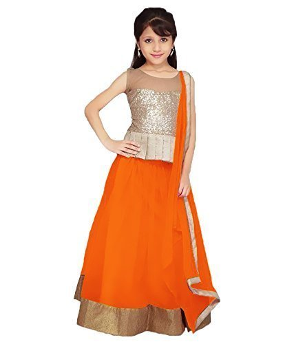 Mahavir Fashion Girls Kids Latest Traditional,Wedding,Party Wear semi-stitched Lehenga Choli (Girls Age 7 to 12 Years)  available at amazon for Rs.199