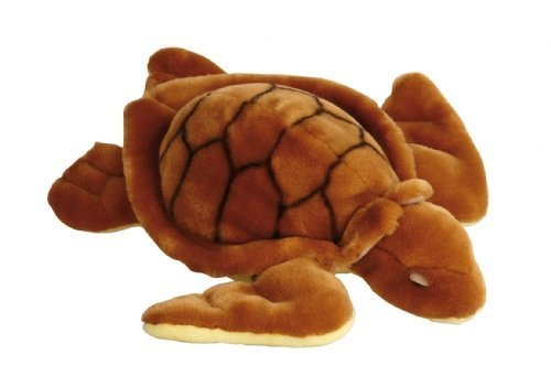 Plush Soft Toy Brown Turtle by Ravensden. 34cm. FRS050C