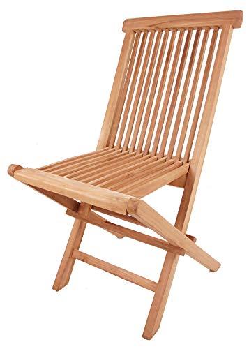 Teck chaise pliante EXCLUSIF - pliable prétraité