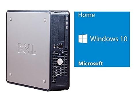 Refurbished Office PC | Dell 780 DT | Intel Core 2 Duo E7500 @ 2,93 GHz | 4GB DDR3 RAM | 160GB HDD | DVD-ROM | Windows 10 Home vorinstalliert (Zertifiziert und (Dell Duo)