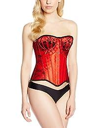 INTIMAX Corset Thin Rojo, Corsé para Mujer