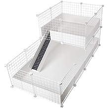 CagesCubes - Jaula CyC Deluxe (Base 2X4 + Loft 2x2 - Panel Blanco) +