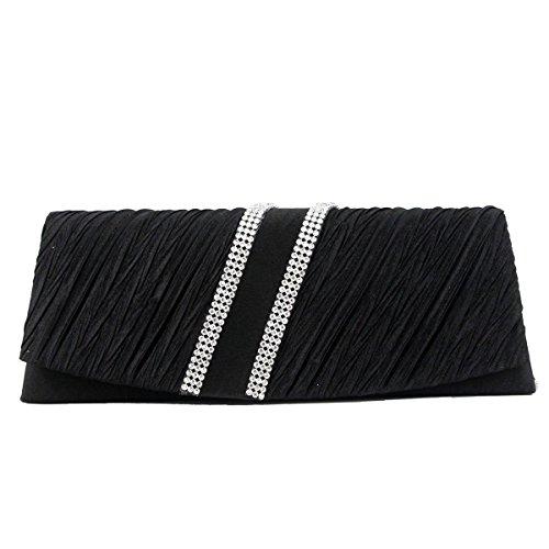 Frauen-Handgriff Mit Abnehmbarer Kette Abendclutch Sling Handtaschen-Umschlag-Handtasche Black