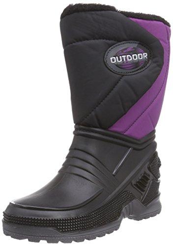 Beck Outdoor, Bottines avec doublure intérieure chaude mixte enfant - Violet - Violett (lila / 13), 25 EU