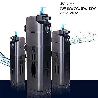 Pompe à eau submersible 4 en 1 - Stérilisateur UV pour aquarium - Filtre à oxygène