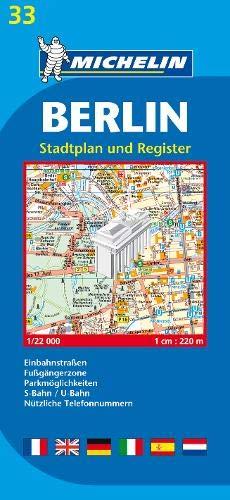 Michelin Berlin: Stadtplan 1:22.000 (MICHELIN Stadtpläne)