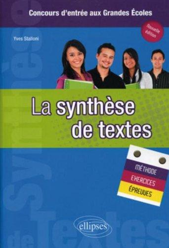 La synthèse de textes