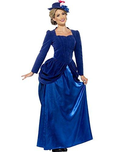 Womens blau Victorian Lady Kostüm Large (UK (Victorian Lady Kostüme Adult)