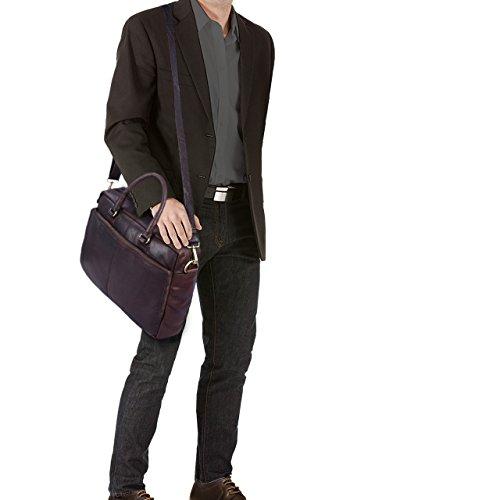 STILORD 'Aaron' Borsa da lavoro portadocumenti in pelle Borsa cartella da donna uomo per PC portatile da 15.6 pollici in cuoio vintage per ufficio, Colore:cognac ebano - marrone