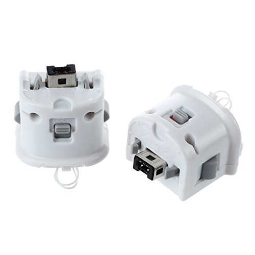 JVSISM 2 x Motion Plus Adapter Sensor Fuer Wii Remote Controller Weiss -