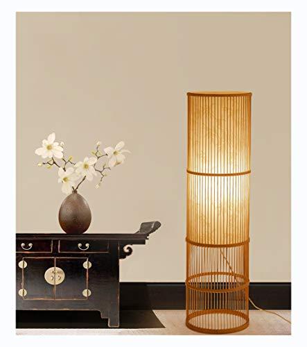 HARDY-YI Simple jardín Creativo de bambú Lámpara estándar ...