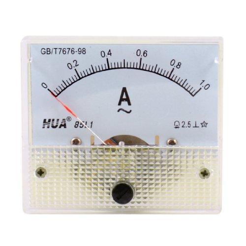Classe 2,5 AC, 0-1A 85L1-Amperometro analogico da pannello, rettangolare