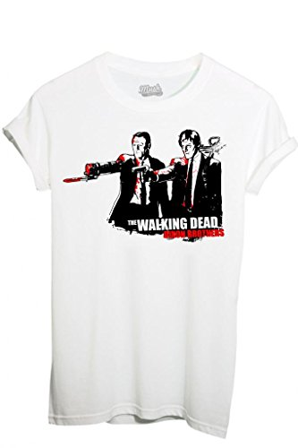 T-SHIRT WALKING DEAD PULP FICTION DIXON BROS-SERIE TV by MUSH Dress Your Style - Uomo-S-BIANCA BIANCO