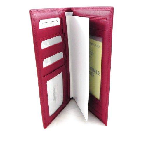 Francinel [C1787] - Porte-Chéquier cuir 'Venise' Rouge - 19x11 cm