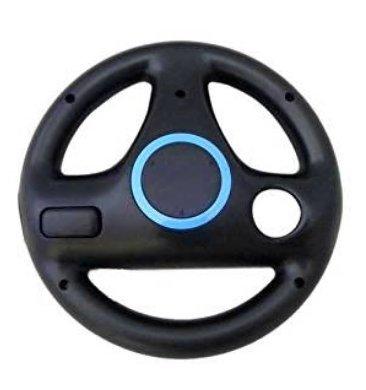 Preisvergleich Produktbild natthom-Racing-Lenkrad, für Nintendo Wii Mario Kart, Schwarz