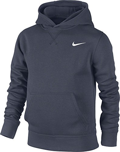 Nike Jungen Kapuzenpullover Brushed Fleece, obsidian/white, XL, 619080-451 (Gestickte Hoodie Jacke)