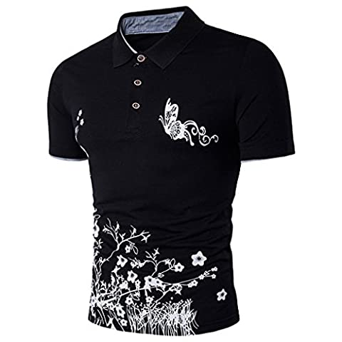 Men Shirt, Xinantime Men New Top Blouse Print Contrast Tipped