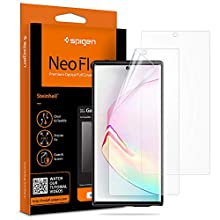 Spigen 2Pack Screen Protector compatible with Samsung Galaxy Note 10 Plus Neoflex Ultrasonic Fingerprint Compatible HD Full Coverage Case Compatible Protective Film for Samsung Note 10 Plus