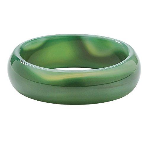 Echte Jade-armreif (Angelina D'Andrea - Armreif - echte grüne Agate - 21,5 cm)