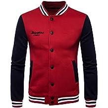 YCHENG Hombre Moda Universitario Chaqueta Sudadera Baseball Abrigos Jacket Outerwear Tops Blazer