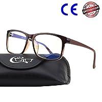 CGID CY12 Gafas para Protección Contra Luz Azul, Anti Fatiga por Deslumbramiento, Previene Dolores de Cabeza o Fatiga Visual