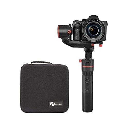 FFeiyuTech A1000 - Gimbal para cámaras Réflex hasta 1000 gramos, 3 Ejes, rotación 360º, color negro