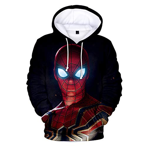 Spiderman Kostüm Kleinkind - WQWQ Kinder-Jugendmode Hoodie Spider-Man Heroes Expedition Sportswear Cotton Bequeme Jacke für Four Seasons Role Play,A,XS