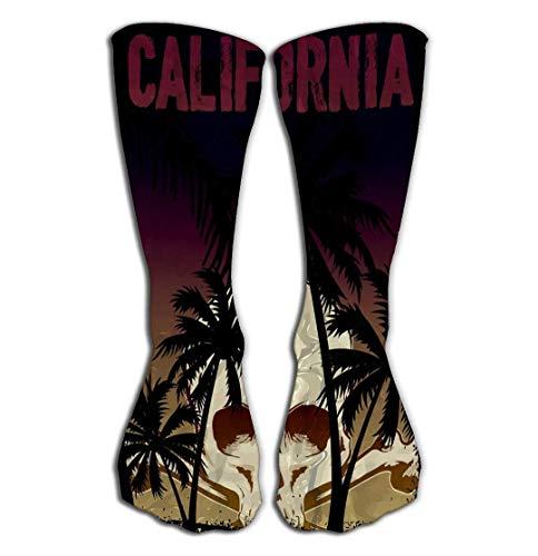 zhulaowufenbaoyouxi Outdoor-Sportarten Männer Frauen Hohe Socken Strumpf Schädel Grafikdesign Mode-Stil Fliesenlänge 19,7
