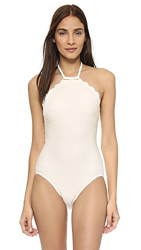 Goddess Maillot (Kate Spade New York Women's Marina Piccola High Neck Maillot Cream Swimsuit)