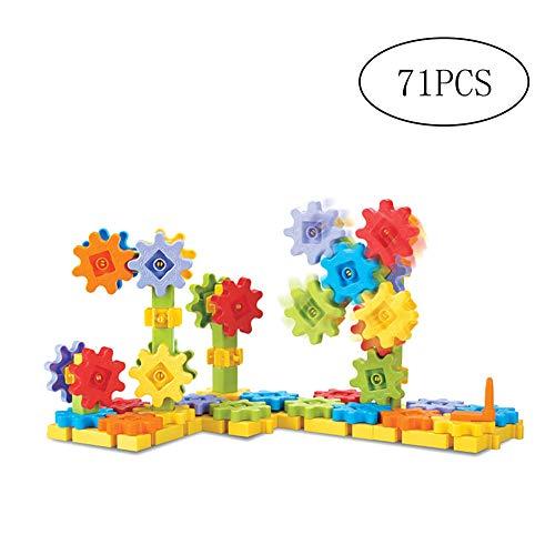 NaiCasy 71 PCS-Gang Mechanische Baustein-Satz Getriebetechnik BAU-Spielzeug-Set Lernspielzeug Fördert STEM für Kinder Lernen