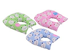 Aarushi Baby Pillows U Shape for Infant Soft Sleep Pillows Pack of 3