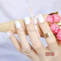 FARMERLY 2018 24pcs short paragraph new cute candy color hot buy fake fingernails complete 22 color Can choose: SN15