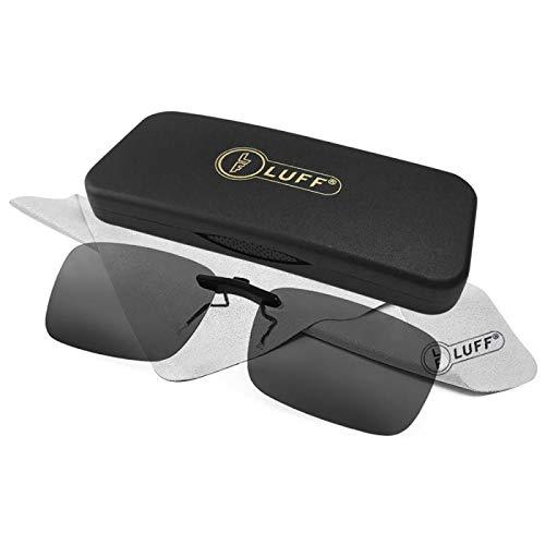 6f40ceed028 LUFF Polarizado Clip Unisex en Gafas de Sol para Anteojos Recetados-Buen  Estilo de Clip Gafas de Sol para la Miopía Gafas al Aire ...