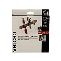 Velcro(r) Brand Fasteners 1-inch x 10 ft Ultra-Mate Glue-On Strip, White