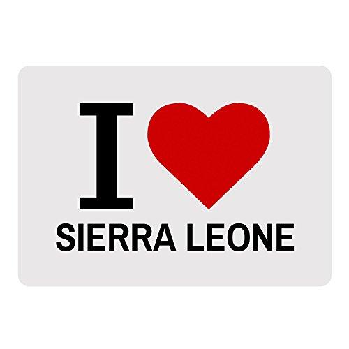 Mousepad Classic I Love Sierra Leone