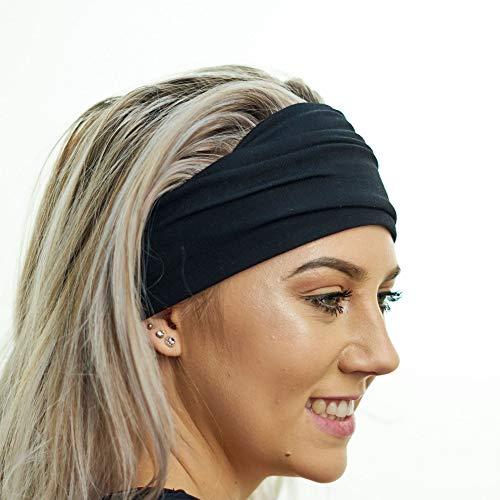 Yoga-Stirnband - Rutschfest & Ideal zum Sport, Pilates, Dehngymnastik, sanfte Workouts, Fitness-Training und Reisen - Bequemes Schweißband aus weichem Bambus-Material - dehnbar, modisch & vielseitig