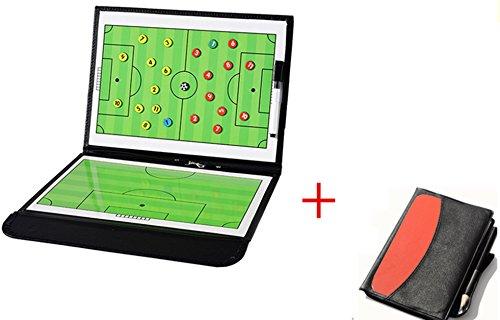 WENHAOYU Lavagna per tattiche e strategie da allenatore di calcio magnetica pieghevole con pennarello cancellabile.