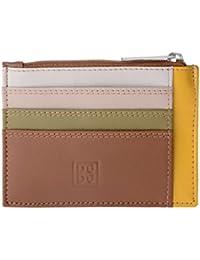 Porta documentos tarjetas en verdadera piel colorada carteras con cremallera DUDU Safari