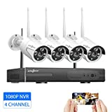 Active Pixel 1080P 2MP AUTO-Pair Wireless System 4 Channel HD Wireless NVR kit