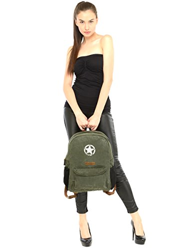 Best canvas backpack in India 2020 The House Of Tara Rugged Unisex Laptop Backpack (Moss Inexperienced) HTBP 164 Image 8