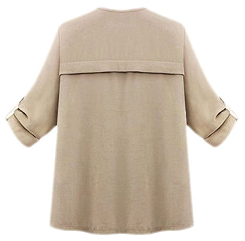 erdbeerloft - Damen Casual Trench Coat, Jacke, Mantel, L-XL, Viele Farben Beige