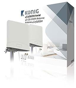 König ANT-4G20-KN Antenne 4G/3G/GSM avec 2câbles 2,5m