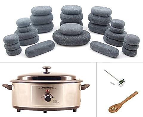 MassageMaster HOT STONE MASSAGE KIT: 27 Basalt Steine + Wärmegerät
