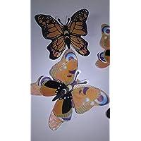 4 Mariposas papel de arroz