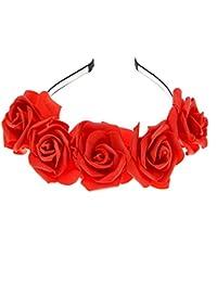 8fd4174858f486 Neu Rose Blumen Haarband Damen Stirnband Kopfband, LEEDY Frauen Tanzparty  Party Geschenk Neuheit Blume Muster bedruckt Verdreht…